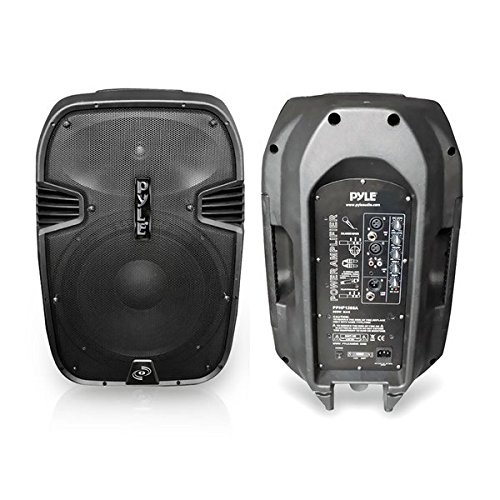 PYLE-PRO PPHP1285A 800 Watts 12-Inch Powered 2 Way Plastic Molded Speaker System