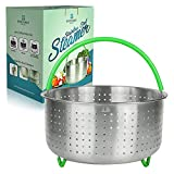 Instant Pot Steamer Basket 6 Quart - Instant Pot Accessories Stainless Steel with Silicone Coated Legs and Handle - Fits 6&8 Qt Instapot Pressure Cooker