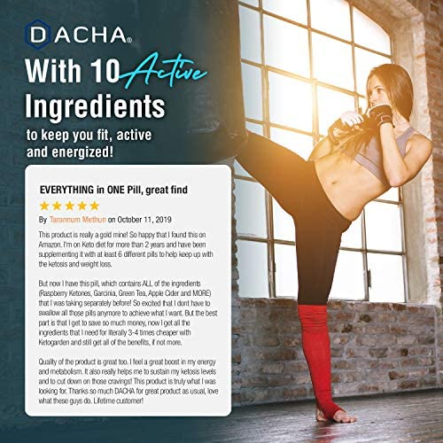 DACHA Ultra Fast Keto Boost - 1820 mg KetoGarden Pure Pills, 6X Extreme Rapid Ketosis, Manage Cravings Super Fast, Utilize Fat for Energy, Perfect Exogenous Ketones, Slim Weight Loss, Burn Xtreme 8