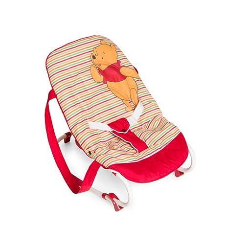 Rosa ab Geburt bis 9 kg verwendbar Sicherheitsgurt und Tragegriffe verstellbare R/ückenlehne Hauck Babywippe Rocky von Disney kippsicher und tragbar Schaukelfunktion