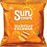 SunChips Harvest Cheddar Flavored Multigrain Snacks, 1 Ounce (Pack of 104)