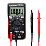 Portable Digital Multimeter Tester - 9999 Counts Multi Testers - AC/DC Voltmeter Ammeter Current (mA&A) Ohmmeter Ampere Test Meters