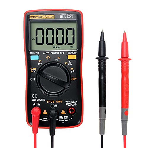 Portable Digital Multimeter Tester - 9999 Counts Multi Testers - AC/DC Voltmeter Ammeter Current (mA&A) Ohmmeter Ampere Test Meters by Betty