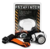 PATHFINDER 21 LED Headlamp Headlight - Lightweight, Comfortable and Weatherproof Flash Light/Torch - Water Resistant Safety Head Lamp - 4 User-Friendly Modes of Operation - Garage Workshop Garden Head lamp, Head Torch for Biking, Cycling, Climbing, Camping, Dog Walking, Hiking, Fishing, Night Reading, Riding, Running and other Outdoor and Indoor Activities - Adjustable Head Strap - 135 Degrees Adjustable Beam Angle - 100,000 Hours LED lifetime (in RETAIL PACKAGING) - SILVER Bild 1