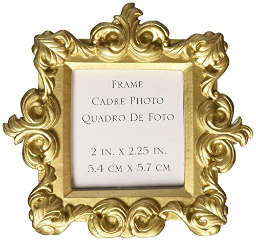 50th Anniversary Votive Holder - FavorOnline Royale Gold Baroque Place Card/Photo Holder, 24