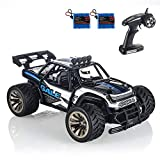 RC Cars KOOWHEEL Off Road Remote Control Cars 1:16 Scale 2WD with Rechargeable Battery 2.4GHz Radio Remote Control Truck Monster High Speed Crawler USB Charger RC Car for Adults& Kids(Blue)