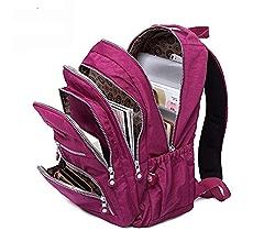 Amazon.com : Myzixuan Mochila para adolescente Mochila femenina mochilas Nylon impermeable Casual Laptop Mochila : Garden & Outdoor