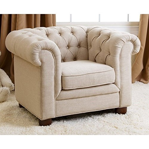 Abbyson Living RJ Kids Mini Fabric Chesterfield Club Chair in - Chesterfield Kids