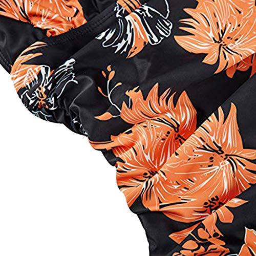 Cutout One Piece Swimsuits Tummy Control Swimwear Sexy Lace-up Back Monokini Slimming Bathing Sui(Orange,XL) by yijiamaoyiyouxia swimwear (Image #4)