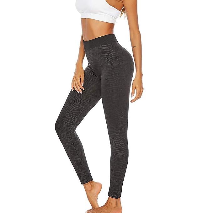 Amazon.com: WUAI Pantalones de yoga para mujer, talla grande ...