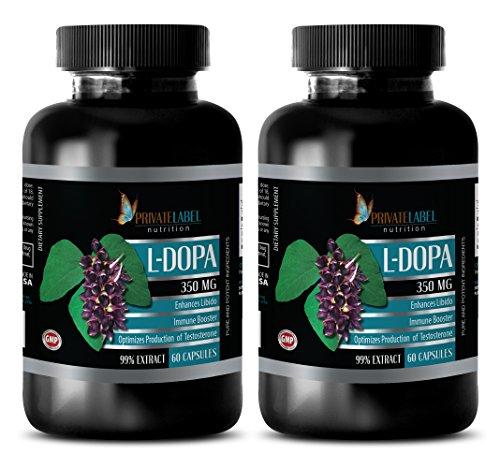 steel libido for women - L-DOPA 350MG - ENHANCES LIBIDO - IMMUNE BOOSTER - dopa focus - 2 Bottles (120 (Melatonin Two Stage)