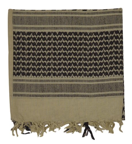 Northstar Tactical Woven Coalition Desert Scarves (Khaki/Black), Outdoor Stuffs