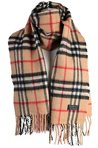 Vintage Burberry Check Lambswool Scarf (Brown)
