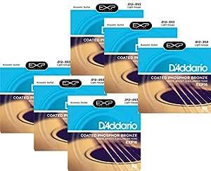 D'Addario EXP16 Coated Phosphor Bronze Light Acoustic Guitar Strings 6-Pack