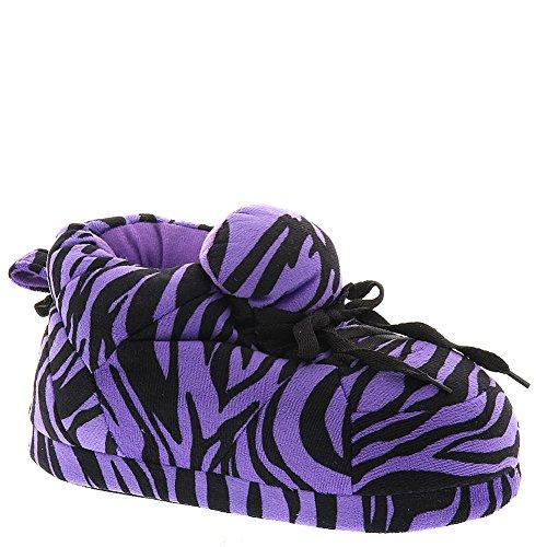 Slippers Zebra Happy Purple Standard Womens and Mens Feet Sneaker Black YqYZC7v