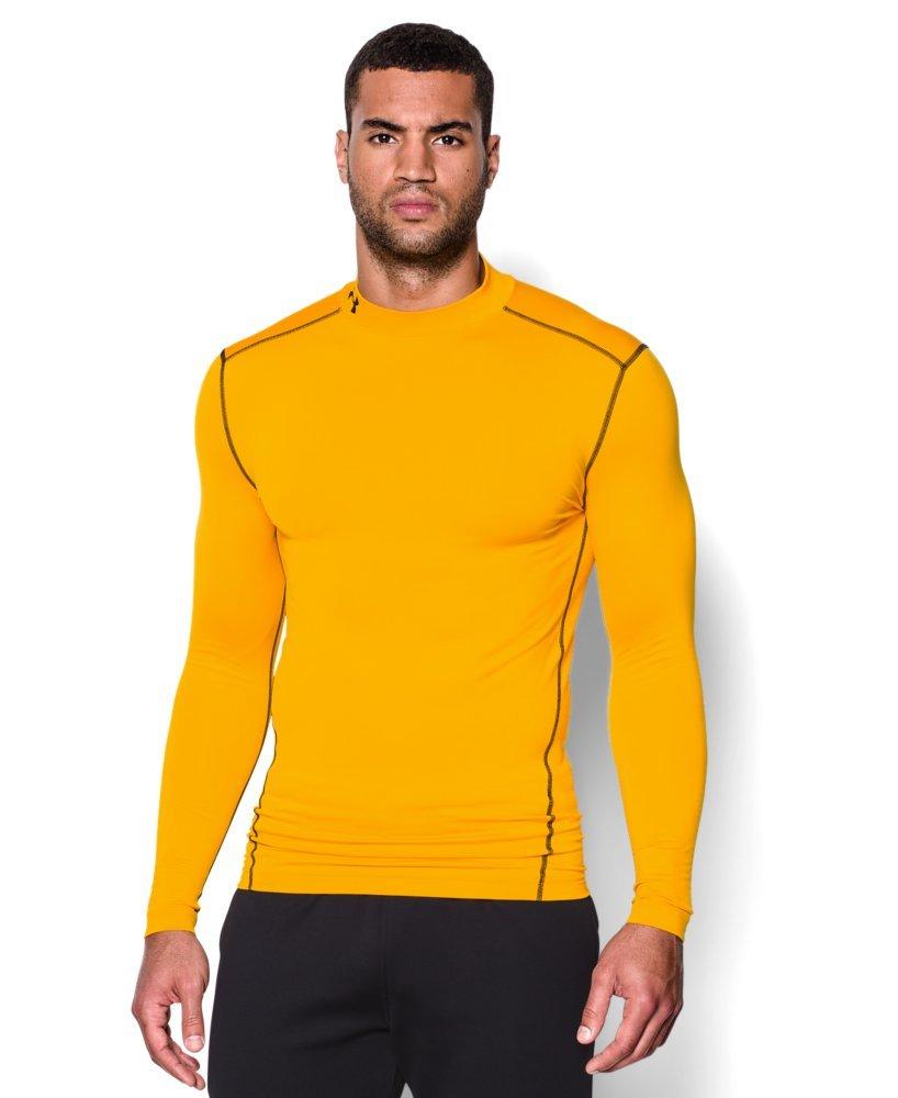 Under Armour Men's ColdGear Armour Compression Mock Long Sleeve Shirt, Steeltown Gold /Black, XXX-Large
