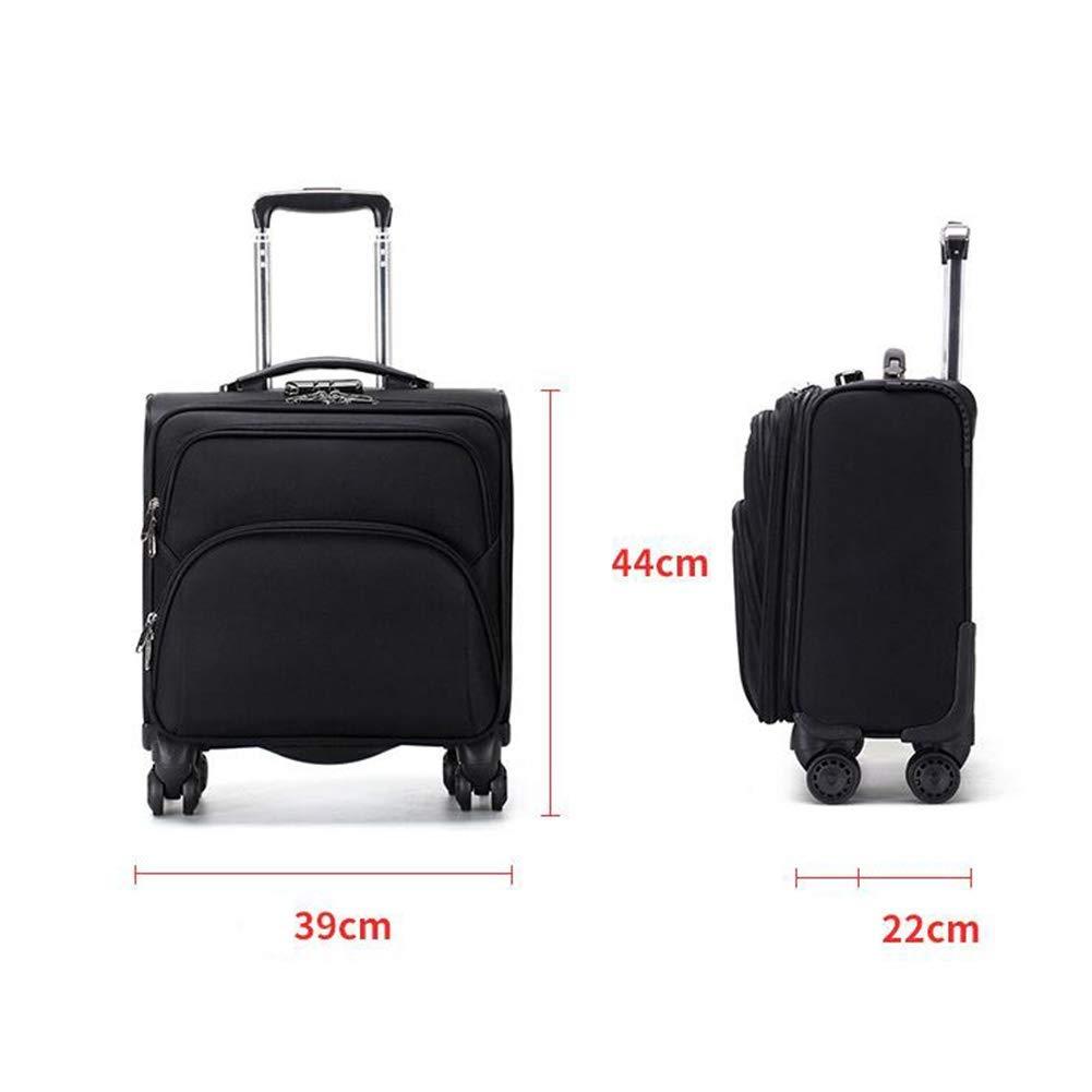 Negocio Caja de la Carretilla 18 Pulgadas con Capacidad para Ordenador portátil Compartimiento de Equipaje de Mano Maleta, Aprobado para Ryanair, Easyjet, ...