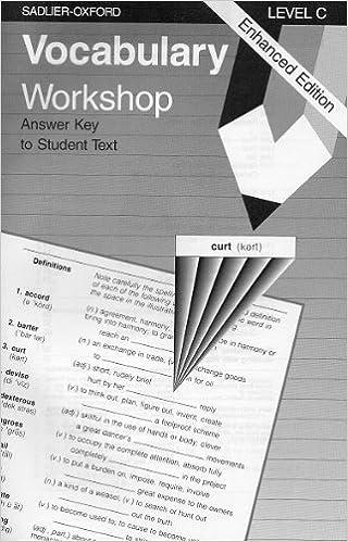 Vocabulary Workshop Level C Answer Key For