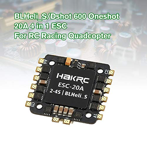 Wikiwand 20A 4 in 1 BLHeli_S/Dshot 600 Oneshot ESC for RC Racing Drone Quadcopter Model by Wikiwand (Image #5)