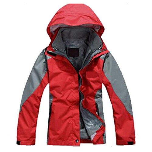 Abbigliamento Antivento Alpinismo Due Rosso Caldo In Esterno Tripla Da Modelli Giacche Per Femminili Donna Peluche Fodera Pezzi q8Zx4HE