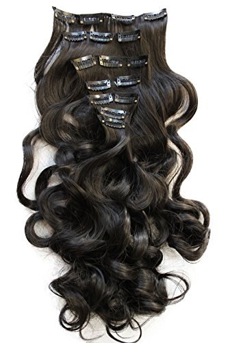 "PRETTYSHOP XL SET 7pcs Full Head 24"" Clip In Hair Extensions"