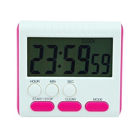 AOLVO Temporizador de Cocina Digital, Reloj Multifuncional de Cocina dígitos Grandes, Alarma Fuerte,