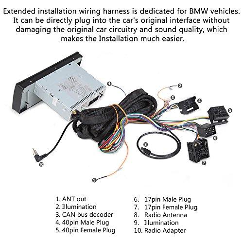 eonon a0577 extended installation wiring harness for eonon product bmw e46/e39/e53  wiring