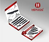 Herzog 5-Piece Stainless-Steel Cutlery Knife Set - Marble Black