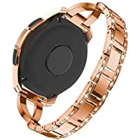 Kiorc❤️Luxury Replacement Metal Crystal Watch Strap Wrist Band for Samsung Galaxy Watch (42mm)