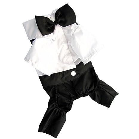 Xianglu® Cachorro esmoquin disfraz mascota perro gato ropa ...