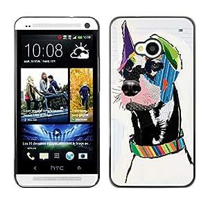 Vortex Accessory Carcasa Protectora Para HTC ONE ( M7 ) - Great Dane Pop Modern Art Dog Canine -