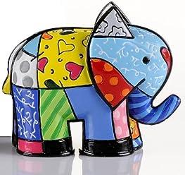 Gift Craft Romero Britto Miniature Elephant Animal Pop Art Figurine 331843 New Mini
