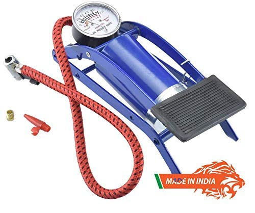 VISHWA ndian High Pressure Foot Pump, Air Tyre Inflator, Air Pump Compressor for Bike Car Cycles Toys and All Vehicles Made in India