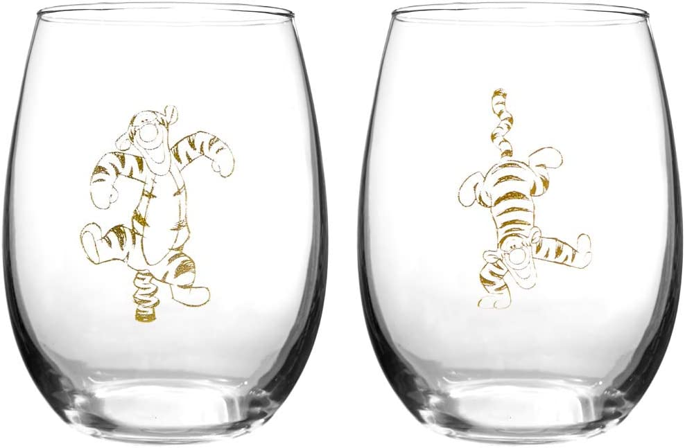 Winnie The Pooh Collectible Wine Glass Set (Tigger)