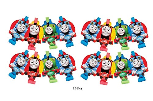 AM Thomas The Tank Engine Blow Out Toy Party Supplies 16(ct) Blowouts Birthday