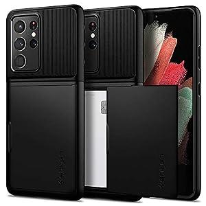 Spigen Slim Armor CS TPU, PC Back Cover Case Compatible with Samsung Galaxy S21 Ultra – Black