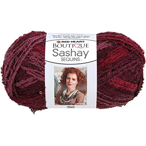RED HEART Boutique Sashay Sequins Yarn, - Red Heart Sequin