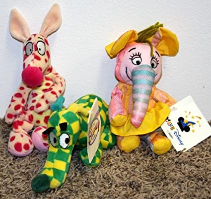 Disney Woozle #2, Woozle #3 and Heffalump #4 Set