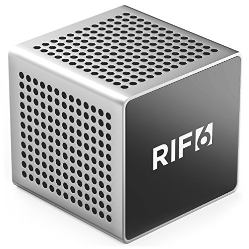 RIF6 RF00062 Sound Cube Small Bluetooth Rechargeable Portable Mini Speaker with up to 12 Hour Playtime Full High...