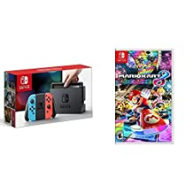 Nintendo Switch Console - Neon Blue and Neon Red Joy-Con Edition + Mario Kart 8 Deluxe - Switch