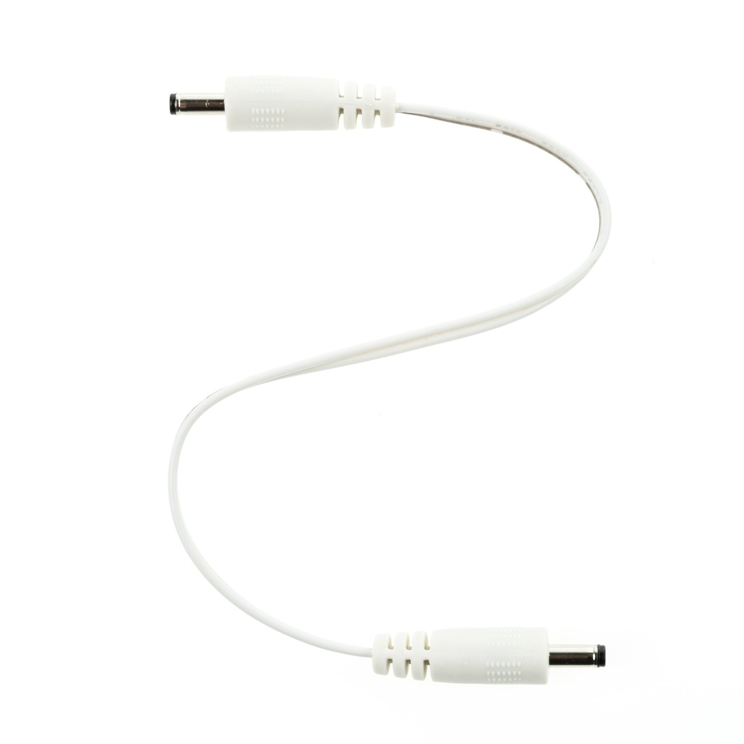 Male to Male EShine Interconnect Cable for LED Under Cabinet Lighting with Wire Clips for Comfortable Installation 6 inch, White