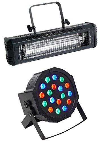 (American DJ Mega Flash DMX 800w Compact DMX Strobe Light+Sound Sensor+Wash Light)