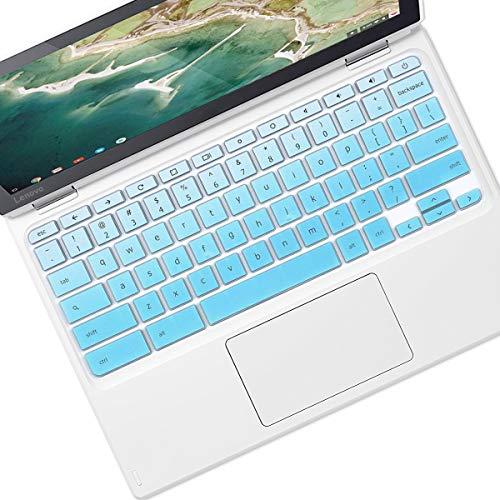 Keyboard Cover Skin Design for 2019 2018 Lenovo Chromebook C330 11.6 |Lenovo Flex 11 Chromebook 11.6 |Lenovo Chromebook N20 N21 N22 N23 100e 300e 500e 11.6 |Lenovo Chromebook N42 14, Gradual Blue