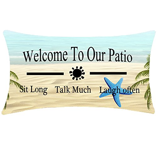 Cheap  ITFRO Enjoy Summer Time Tropical Beach Starfish Welcome To Our Patio Quote..