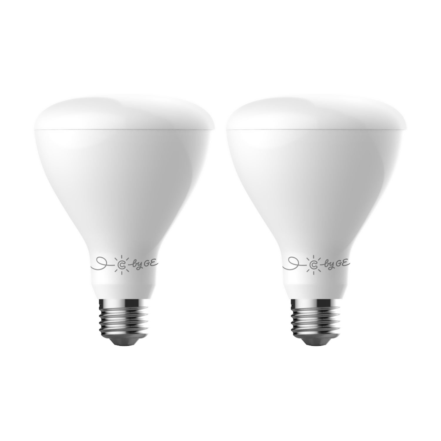 C by GE C-Life Smart LED Tintable White Indoor Floodlight Light Bulbs by GE Lighting, 2-Pack, Works with Alexa