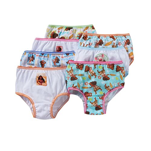 Disney Moana Girls Cotton Panties Underwear 7-Pack