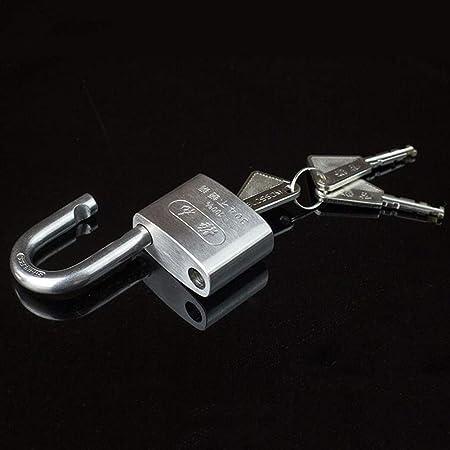 Color : Silver, Size : 50MM MUMA 40MM//50MM//60MM Heavy Duty Steel Padlock Security Shackle 3 Keys Indoor Outdoor Shed Garage Chest Locker