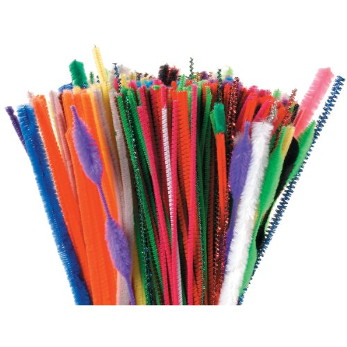 Darice 10843-99 350-Pack Chenille/Tinsel and Bump Chenille Stems, 12-Inch, Assorted