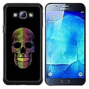 """S-type Cráneo de la muerte Metal Rock Negro"""" - Arte & diseño plástico duro Fundas Cover Cubre Hard Case Cover For Samsung Galaxy A8 ( A8000 )"""