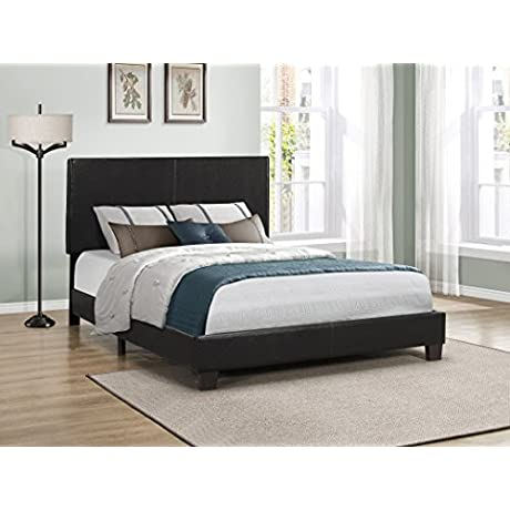 Furniture World Cody Contemporary Upholstered Bed Twin Black